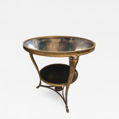 1920s French Gueridon Side Table with Rams Head Details and Marble Top - 1050824