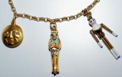 1920s Gold and Enamel Charm Bracelet - 305043
