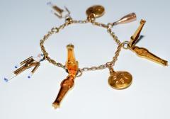 1920s Gold and Enamel Charm Bracelet - 305044