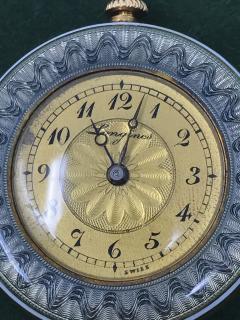 1920s Longines Platinum Diamond Enamel Cameo Pendant Watch - 591783