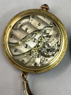 1920s Longines Platinum Diamond Enamel Cameo Pendant Watch - 591807