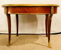 1920s Louis XVI Style Coffee or Low Table Walnut and Marble - 1243530