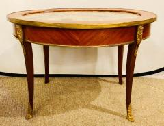 1920s Louis XVI Style Coffee or Low Table Walnut and Marble - 1243534