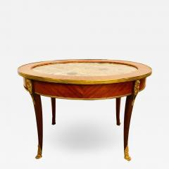 1920s Louis XVI Style Coffee or Low Table Walnut and Marble - 1243991