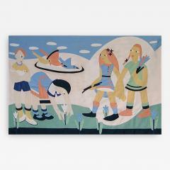 1930 s Modernist Child s Quilt - 189216