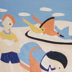 1930 s Modernist Child s Quilt - 189220