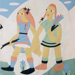 1930 s Modernist Child s Quilt - 189221