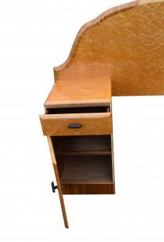 1930s Art Deco Birds Eye Maple Odeon Double Bed - 962178