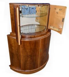 1930s Art Deco English Drinks Cabinet In Walnut - 1032061