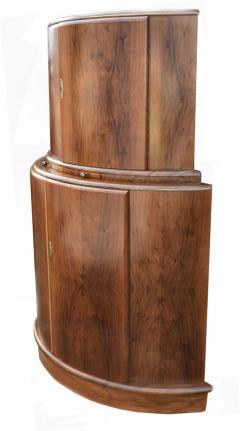 1930s Art Deco English Drinks Cabinet In Walnut - 1032062