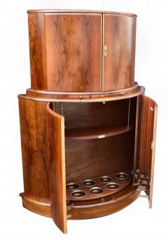 1930s Art Deco English Drinks Cabinet In Walnut - 1032064