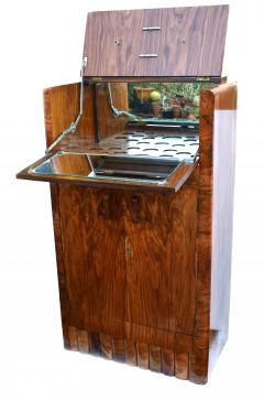 1930s Art Deco Fitted Walnut Cocktail Cabinet - 962026