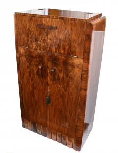 1930s Art Deco Fitted Walnut Cocktail Cabinet - 962027