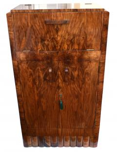 1930s Art Deco Fitted Walnut Cocktail Cabinet - 962029