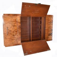 1930s Art Deco Fitted Walnut Cocktail Cabinet - 962032