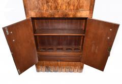 1930s Art Deco Fitted Walnut Cocktail Cabinet - 962033