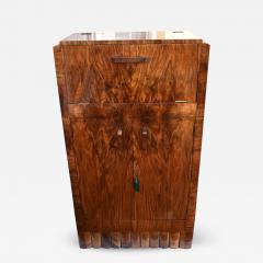 1930s Art Deco Fitted Walnut Cocktail Cabinet - 962418