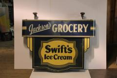 1930s Double Sided Swifts Ice Cream Sign - 1368695