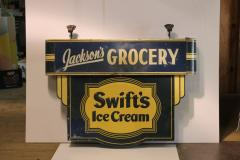 1930s Double Sided Swifts Ice Cream Sign - 1368697