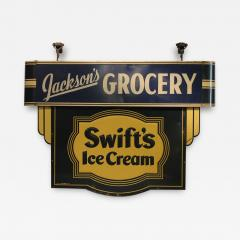1930s Double Sided Swifts Ice Cream Sign - 1369176