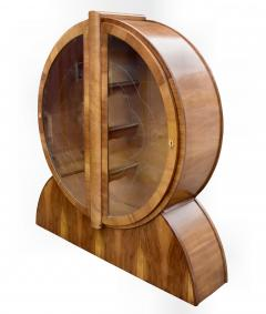 1930s English Art Deco Display Cabinet in Walnut - 1028007