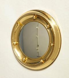 1930s English Brass Port Hole Mirror - 662725