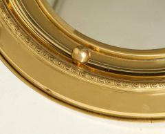 1930s English Brass Port Hole Mirror - 662726