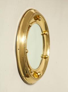 1930s English Brass Port Hole Mirror - 662727