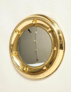 1930s English Brass Port Hole Mirror - 662728