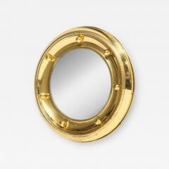 1930s English Brass Port Hole Mirror - 663305