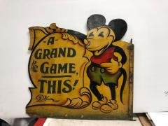 1930s Hand Painted Carnival Panel Pie Mickey  - 1370653