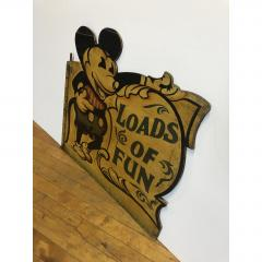 1930s Hand Painted Carnival Panel Pie Mickey  - 1370655