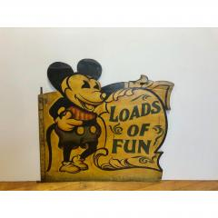 1930s Hand Painted Carnival Panel Pie Mickey  - 1370658