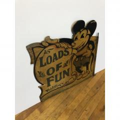 1930s Hand Painted Carnival Panel Pie Mickey  - 1370659