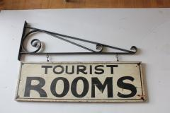 1930s Hand Painted Double Sided Tourist Rooms Sign - 362328