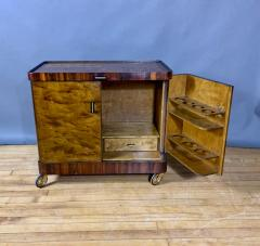 1930s Rootwood Rosewood Bar Cabinet With Intarsia - 1410736