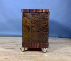 1930s Rootwood Rosewood Bar Cabinet With Intarsia - 1410737