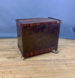 1930s Rootwood Rosewood Bar Cabinet With Intarsia - 1410738