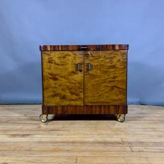 1930s Rootwood Rosewood Bar Cabinet With Intarsia - 1410739