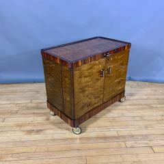 1930s Rootwood Rosewood Bar Cabinet With Intarsia - 1410740