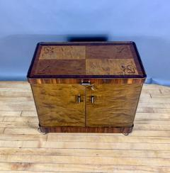 1930s Rootwood Rosewood Bar Cabinet With Intarsia - 1410741