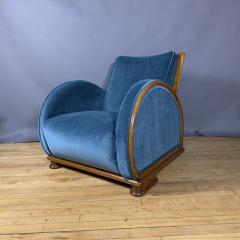 1930s Swedish Elmwood Art Deco Lounge Chair - 1410772