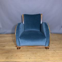 1930s Swedish Elmwood Art Deco Lounge Chair - 1410776