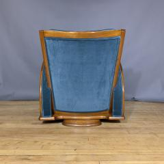 1930s Swedish Elmwood Art Deco Lounge Chair - 1410780