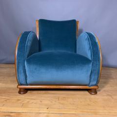 1930s Swedish Elmwood Art Deco Lounge Chair - 1410784
