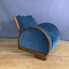 1930s Swedish Elmwood Art Deco Lounge Chair - 1410785