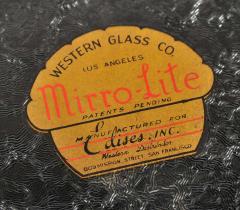1930s US Art Deco illuminated dressing table mirror - 1223509