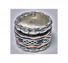 1940 s Gold and Silver Spinner Ring  - 1118566