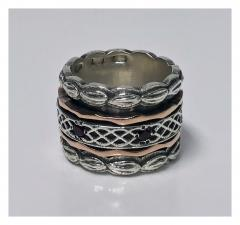 1940 s Gold and Silver Spinner Ring  - 1118567