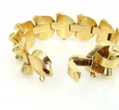 1940s 18kt gold retro bracelet - 1164863